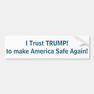 I Trust TRUMP to make America Safe again! Bumper Sticker