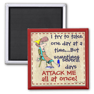 I Try To Take One Day At A Time Fridge Magnet