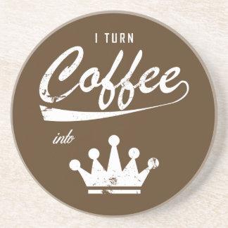 I Turn Coffee Into KOMs Coaster