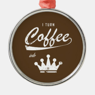 I Turn Coffee Into KOMs Metal Ornament