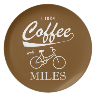 I Turn Coffee Into Miles Plate