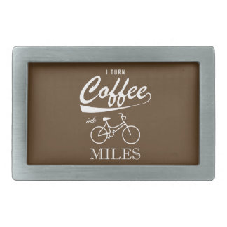 I Turn Coffee Into Miles Rectangular Belt Buckles