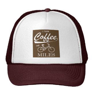 I Turn Coffee Into Miles Trucker Hat