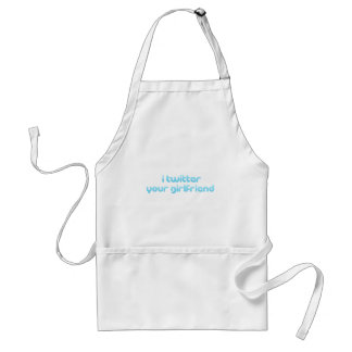 i twitter your girlfriend standard apron