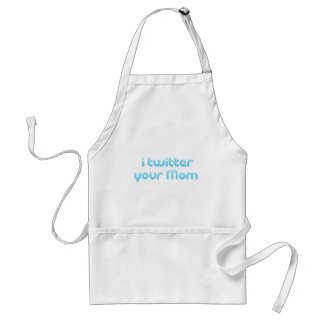 I twitter your Mom Standard Apron