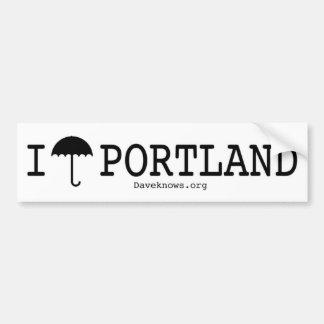I Umbrella Portland Bumper Sticker