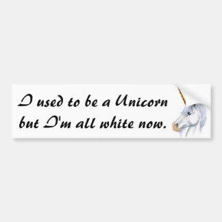 I used to be a Unicorn Bumper Sticker