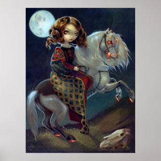 I Vampiri: Notte a Cavalla ART PRINT Vampire Horse