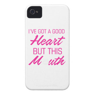 I've got a good heart but this mouth iPhone 4 Case-Mate case