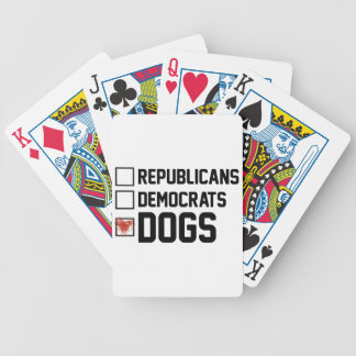 I Vote Dogs Bicycle Playing Cards