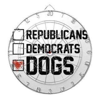 I Vote Dogs Dartboard