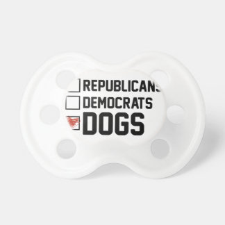 I Vote Dogs Pacifier