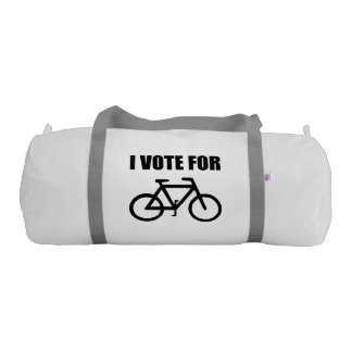 I Vote For Bicycle Gym Bag