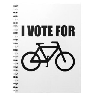 I Vote For Bicycle Notebook