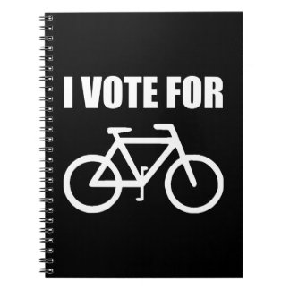 I Vote For Bicycle Spiral Notebook
