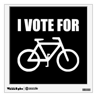 I Vote For Bicycle Wall Decal