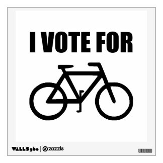 I Vote For Bicycle Wall Sticker