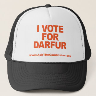 I Vote For Darfur Hat