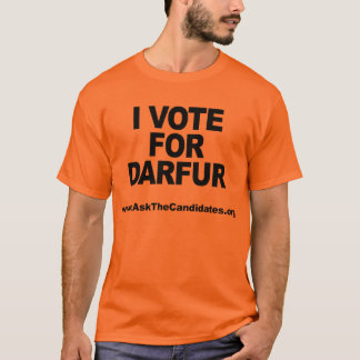 I Vote For Darfur T-Shirt