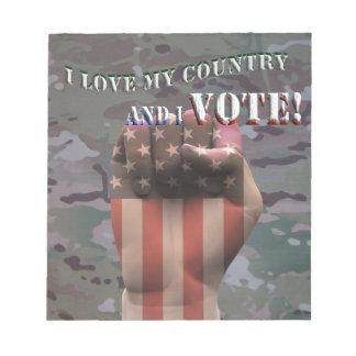 i vote notepad