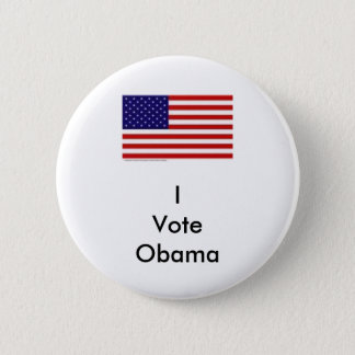 I Vote Obama 2 Inch Round Button