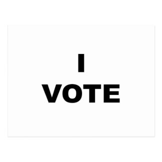 I VOTE POSTCARD