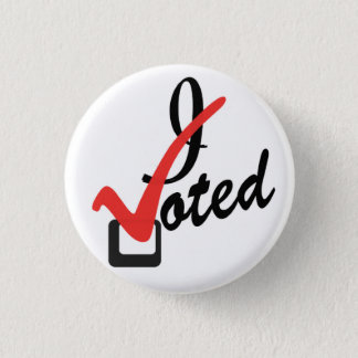 I voted 1 inch round button