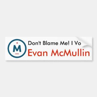 I Voted Evan McMullin! Bumper Sticker