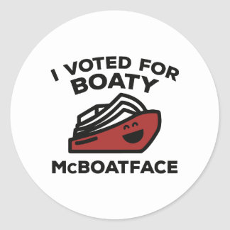 I Voted For Boaty McBoatface Round Sticker