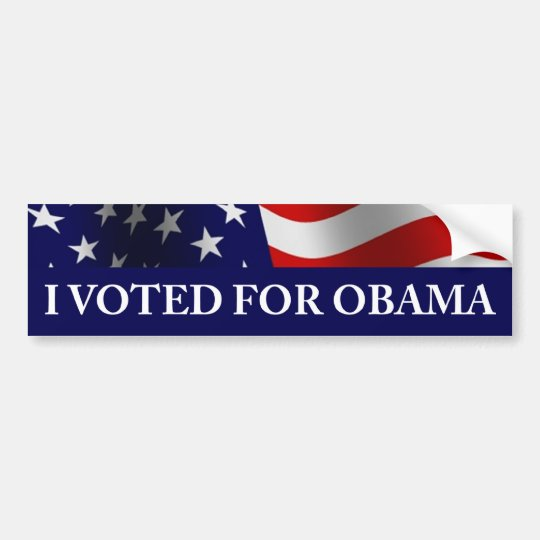 I Voted for Obama Bumper Sticker