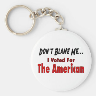 I Voted For The American Basic Round Button Keychain