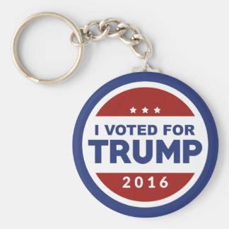 I Voted For Trump Basic Round Button Keychain