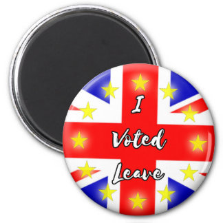 i voted leave 2 inch round magnet