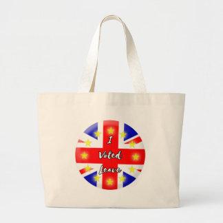 i voted leave large tote bag
