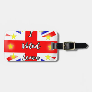 i voted leave luggage tag