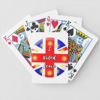 i voted leave poker deck