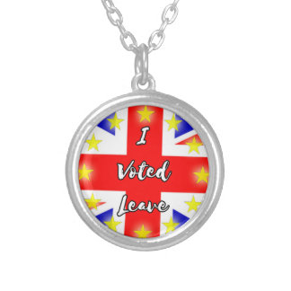 i voted leave silver plated necklace