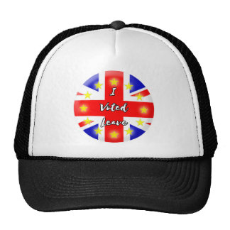 i voted leave trucker hat
