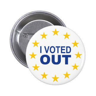 I Voted OUT 2 Inch Round Button