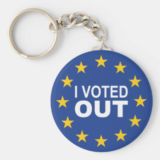 I Voted OUT Keychain