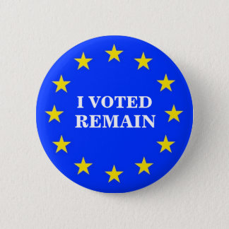 I VOTED REMAIN EU BADGE 2 INCH ROUND BUTTON