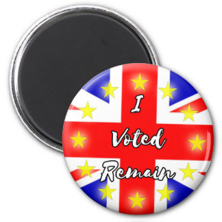 I voted Remain History 2 Inch Round Magnet