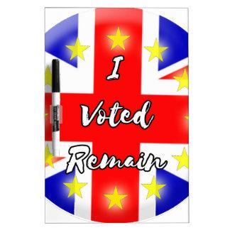 I voted Remain History Dry Erase Whiteboard