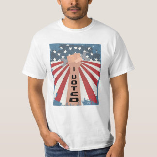 I Voted T-Shirt with Hand and Wrench