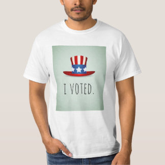 I Voted T-Shirt with USA Flag Themed Top Hat