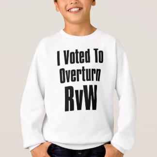 I Voted to Overturn RvW Sweatshirt