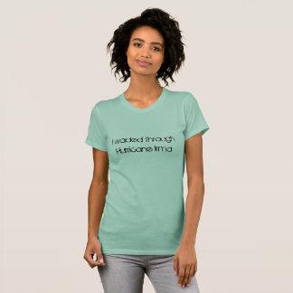 I waded through Hurricane Irma fun font T-Shirt