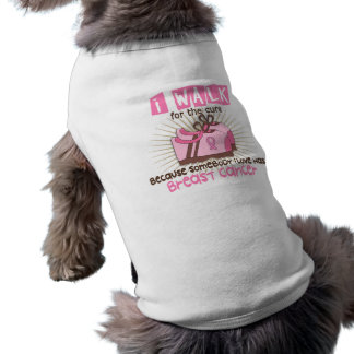 I Walk 1 Breast Cancer Dog T Shirt