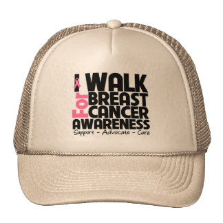 I Walk For Breast Cancer Awareness Trucker Hat