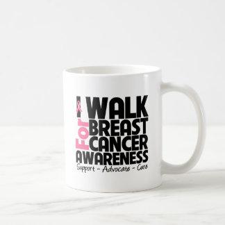 I Walk For Breast Cancer Awareness Basic White Mug